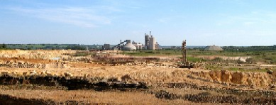 Ketton cement plant and quarry